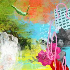 Rino Larsen - Funky Garden I Scandinavian Art, Design Strategy, Artist At Work, Household Items, Something To Do, Fine Art, Inspiration, Painting, Garden