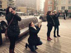 Berceau Creative organiseerde een fotowandeling in Rotterdam met aandacht voor architectuur, lijnen en kleur.
