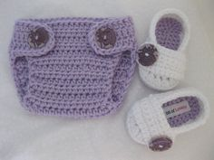 Knitted Booties + Diaper Cover