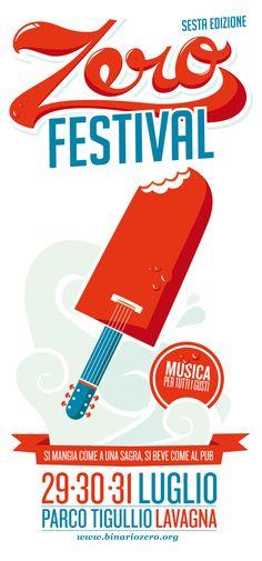 Zero music festival, Lavagna 2010 - poster by graphic designer and illustrator Giovanni Montuori.