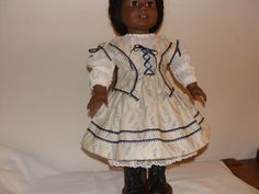 1854 style outfit for 18 inch doll. $35.00, via Etsy.