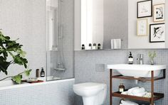 images like Oscar Properties : Chokladfabriken bathroom - mirror - toilet . visit us and get your ideas Bathroom Inspiration, Bathroom Vanity, Bathroom Interior, Small Bathroom, Bathroom Decor, Home, Interior, Bathroom Design, Tile Bathroom