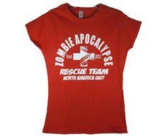 Red Zombie Apocalypse Rescue Team T-shirt