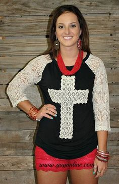 Southern Grace Cross Crochet Top
