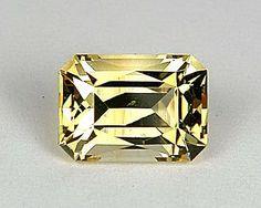 Golden Yellow Beryl Scissor Step Mixed Emerald Shape Cut 2.35cts - Custom Gem Cutter Studio