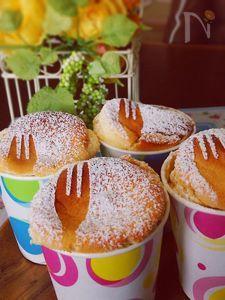 クリチ不要で低カロ&低コスト♪紙コップスフレチーズケーキ♡
