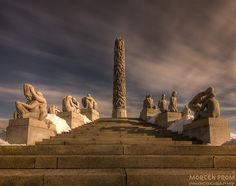 Vigeland Sculpture Park, Oslo.  As amazing as the sculptures are the park is equally beautiful.