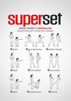Superset workout.