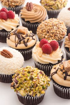 All Time Easy Cake : Cupcakes - Vegan, wheat free & gluten free available, Cupcake Flavors, Gourmet Cupcakes, Baking Cupcakes, Yummy Cupcakes, Cupcake Recipes, Cupcake Cakes, Dessert Recipes, Almond Cupcakes, Novelty Birthday Cakes