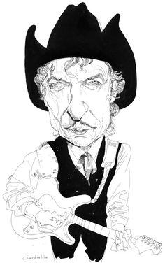 Bob Dylan portrait by Joe Ciardiello