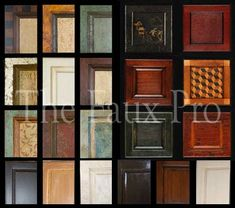 faux cabinet finishes