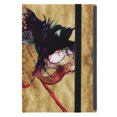 MARDI GRAS MASQUERAD SAPPHIRE MONOGRAM Parchment Cover For iPad Mini
