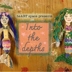 Our project in heART space this months is Into the depths. Click the link in my bio to get free instructions Clothes Pegs, Mermaids, Creativity, Presents, How To Get, Space, Heart, Link, Free