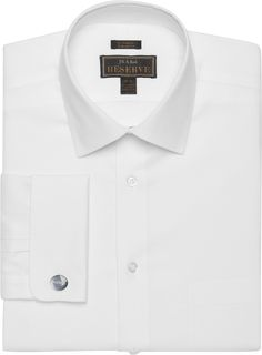 Reserve Collection Tailored Fit Spread Collar Royal Oxford Dress Shirt