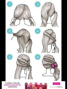 Coiffure à 6 étapes