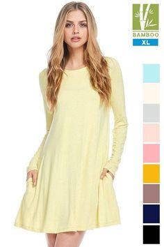 Tanboocel Bamboo Long Sleeve Lemon Color Dress   Style #24222 $18.85  Shop Dress: http://ift.tt/2nVeHI1 --------------------------------------------------------------- #cocolove #dresses #tanboocelBambooDress #casualdress #bamboo #womensdress #highfashion #stylist #styleish #fashion #fashionista #newstyle #newarrivals #BESTEVER #bestseller #boutique #liketolike #tbt #followme #cute #beautiful #love #ootd #picoftheday #like4like