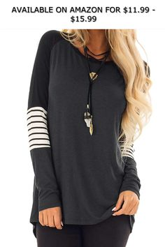 Twinklady Women Casual Shirts Color Block Long Sleeve Loose Fit Tops  Blouses ◇ AVAILABLE ON AMAZON cb85d2b52