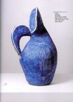Cántaro de cerámica, hacia 1958, Guido Gambone. Maravilloso.