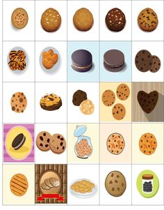 Free Printable-25 Cookie Based Stickers For Your Happy Planner or Erin Condren Planner