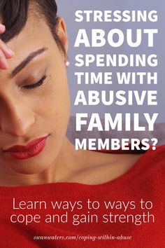 With the holidays around the corner, are you stressing about how to cope with toxic or abusive family members? Or perhaps you have to deal with an abusive partner or ex? Join our community for info and support