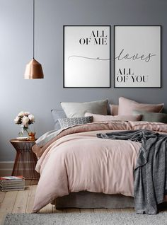 All of me Loves all of you Set of 2 Couple print Couple poster Love quote Bedroom print Anniversary gifts Love print Love poster Ich alle liebt euch alle Satz 2 Paardruck Paarplakat Home Decor Bedroom, Bedroom Wall, Couple Bedroom Decor, Bedroom Ideas For Couples, Quotes For Bedroom, Modern Bedroom, Diy Bedroom, Bedroom Rustic, Industrial Bedroom