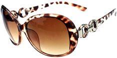 347b76cc2f Amazon.com  Women Shades Oversized Eyewear Classic Designer Sunglasses  UV400-Leopard Tawney  Clothing