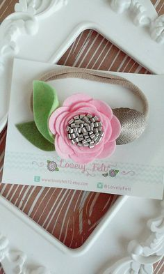 Floral Felt Headband 3D Pink Flower Headband on by #LovelyFeltShop #feltflowerheadband #flowerheadband #floralheadpiece