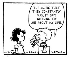 Charlie Brown always had a thing or two to say about vinyl. Created by Charles M. Schulz, the Peanuts story needs no introduction, holding down a spot in newspapers across the world for a good fifty years, amassing over … Die Peanuts, Peanuts Gang, Schroeder Peanuts, Meeting Of The Minds, Peanuts Cartoon, Peanuts Comics, Vinyl Junkies, Cheer Me Up, Charlie Brown And Snoopy