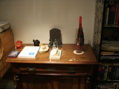 Zimmer- Flaschen- Kerze im Kontext