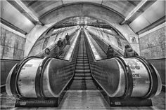 Prague Metro by - pohled na eskalátory Places To Travel, Places To Go, Walks, Photographers, America, Beautiful, Love, Travel Destinations, Holiday Destinations