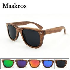 7cfbbf1f75 Maskros Spring Hinge Wood Polarized Sunglasses Men Women Coating Uv400 Sun  Glasses Vintage Wooden Frame Small Face Square Shades-in Sunglasses from  Men s ...