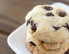 Flourless Chocolate Chip Cookies with #coconutcreamconcentrate #glutenfree