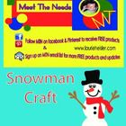 This is a jumbo size construction paper template for a snowman craft. ...