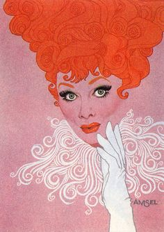 Lucille Ball by Richard Amsel (1947 – 1985)