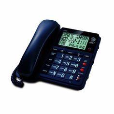 AT&T Corded Speaker Phone CL2939  CID XLAR  Black Office Large Display Call Id #ATT