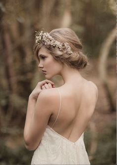 Coiffure mariage : #ruedeseine advertisement ..Eve Dress and Floral head wreath