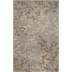 Home Decorators Collection Blossoms Blue 8 ft. x 10 ft. Area Rug-BLS2600-810 at The Home Depot