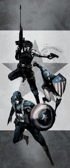 Captain America, Winter Soldier & Patriot - naratani.deviantart.com