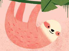 Sloth by Emily Dove #Design Popular #Dribbble #shots
