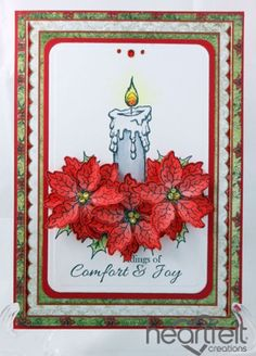 Heartfelt Creations | Red Poinsettia Candle