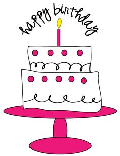 Free Birthday Cake Clipart for craft projects websites