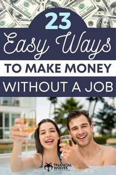 Are you searching for some easy and creative ways to earn money without a job? It's totally possible! We have a list of 23 ways you can earn extra cash quickly without getting a second job! Work a flexible schedule when you want and set your own hours! Learn more at the blog today.