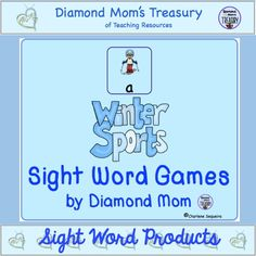 Winter sports is a great theme for engaging kids. This set of sight word cards uses the sports from the Olympics to make learning sight words fun. Grab a set and start playing now.