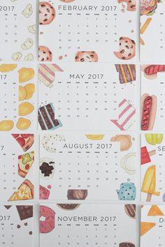 Free printable 2017 snack calendar