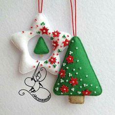 ♚⚜Fashion Inspiration⚜♚ Enfeites natalinos em feltro