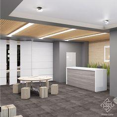 Начинаем обзор нашего дизайн-проекта офисного пространства с зоны общения с клиентами. Современный стиль выражен простыми геометрическими решениями, подчеркивающими функциональное зонирование пространства свободной планировки. Активное использование дерева в сочетании с ахроматической цветовой гаммой создают строгую деловую обстановку, что крайне важно для офисов. #Primogatto_interior_project #primogatto #дизайн #дизайнинтерьеров #interiors #interiordesign #офисы #дизайнофиса