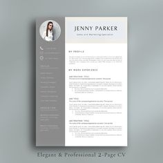 Professional Resume Template by AvataDesigns on @creativemarket                                                                                                                                                                                 More