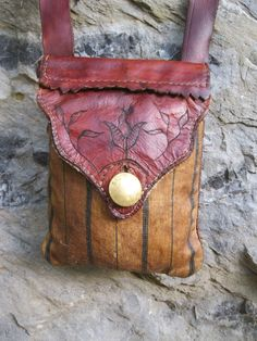 Contemporary Makers: Hunting Pouch by Eric Ewing Leather Pouch, Leather Purses, Leather Bags, Shooting Bags, Mens Pouch, Leather Workshop, Work Bags, Purse Styles, Leather Projects