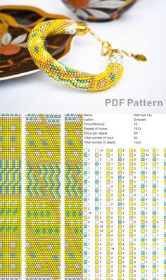 Bead crochet pattern rhombus line bracelet pdf beading master Class jewelry make necklace Crochet Rope tutorial geometric patchwork Crochet Beaded Bracelets, Beaded Bracelet Patterns, Beaded Jewelry, Crochet Necklace, Bead Crochet Patterns, Bead Crochet Rope, Beading Patterns, Beading Tutorials, Bracelets
