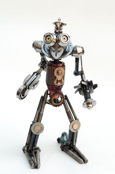 Billy & Corbin project??  Recycled Metal Sculptures by Brian Mock   Inspiration Grid   Design Inspiration